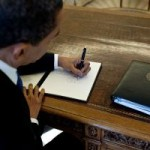 Obama left handed